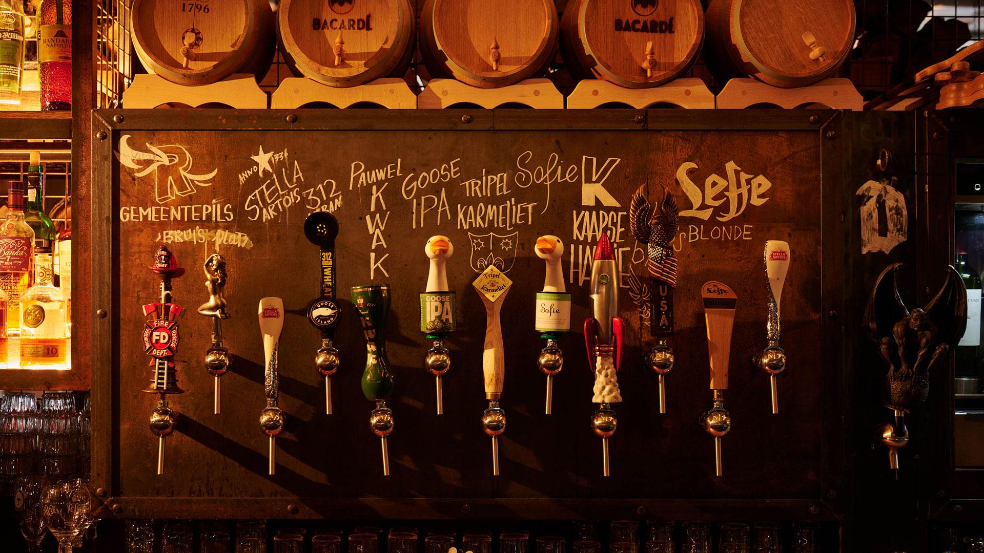 bieren op tap bij Black Smoke
